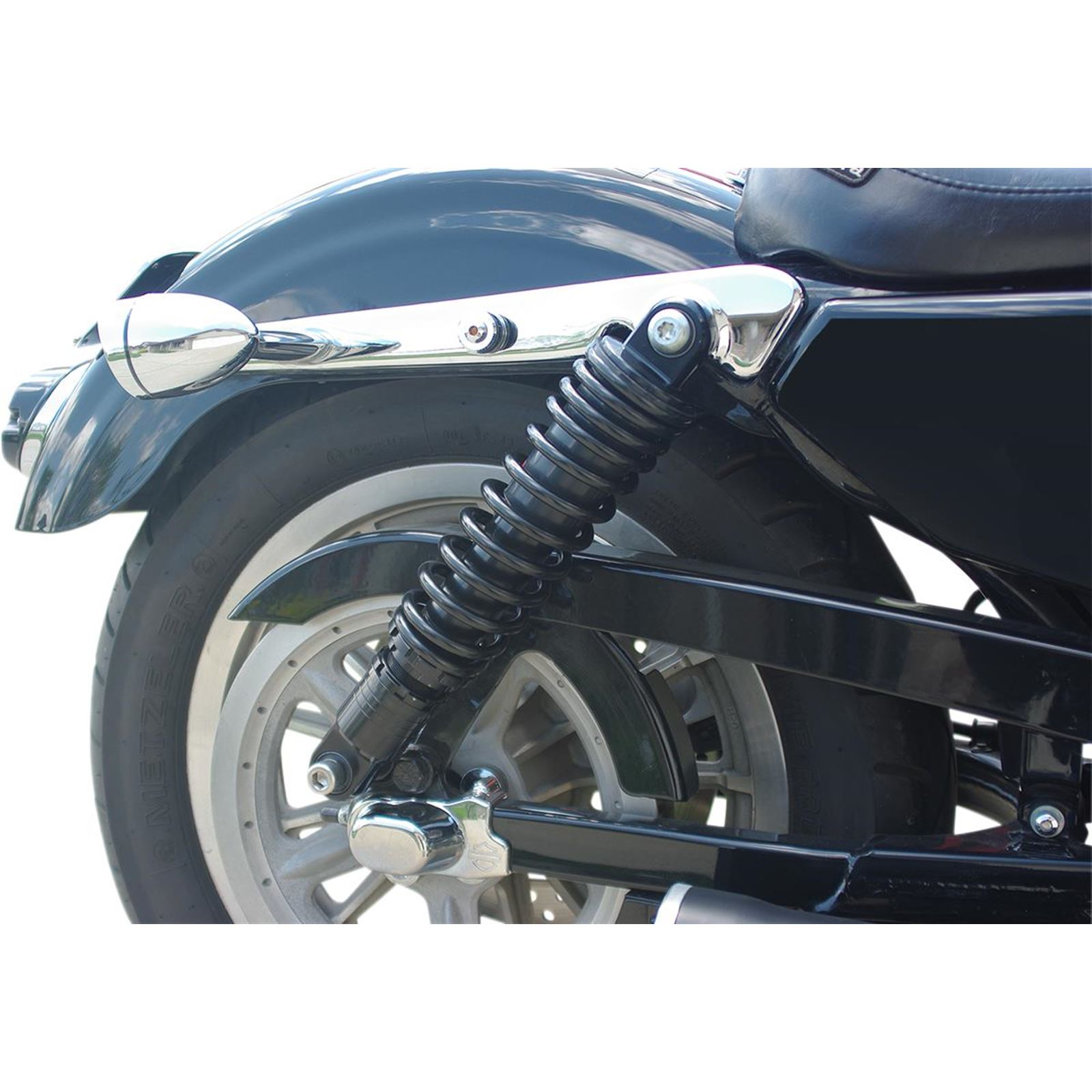 "Drag Specialties Premium Ride-Height Adjustable Shocks - Black - Standard - 13"""