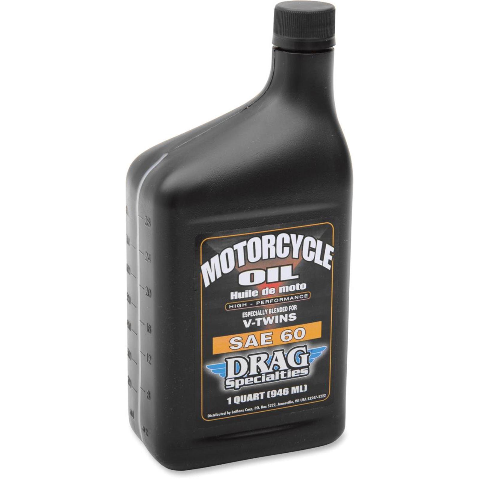 Drag Specialties Engine Oil SAE 60 - 1 US quart - Case of 12