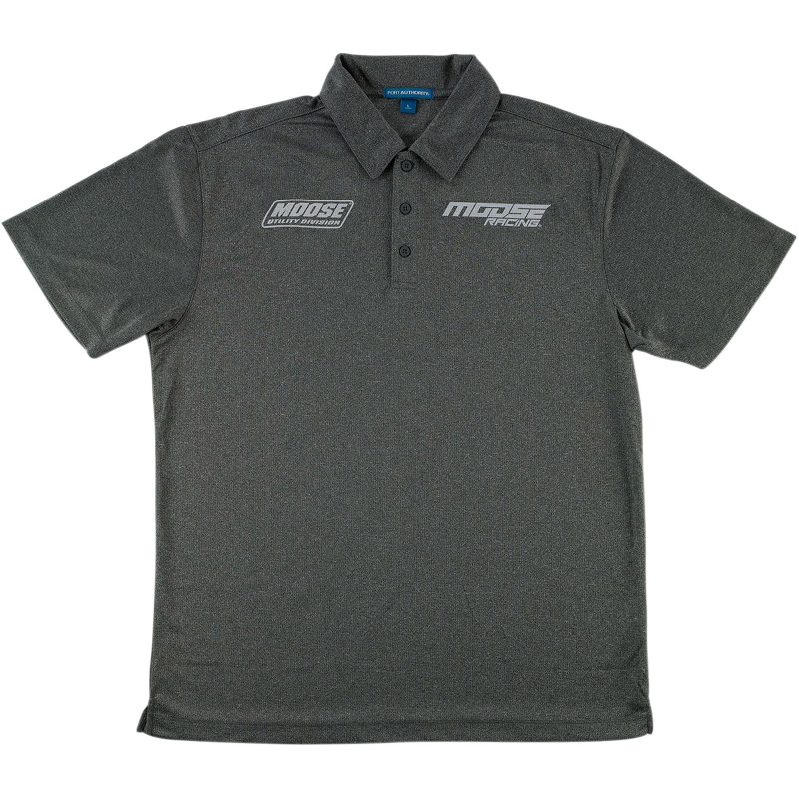 Moose Racing Polo Shirt - Charcoal Heather - 3X-Large