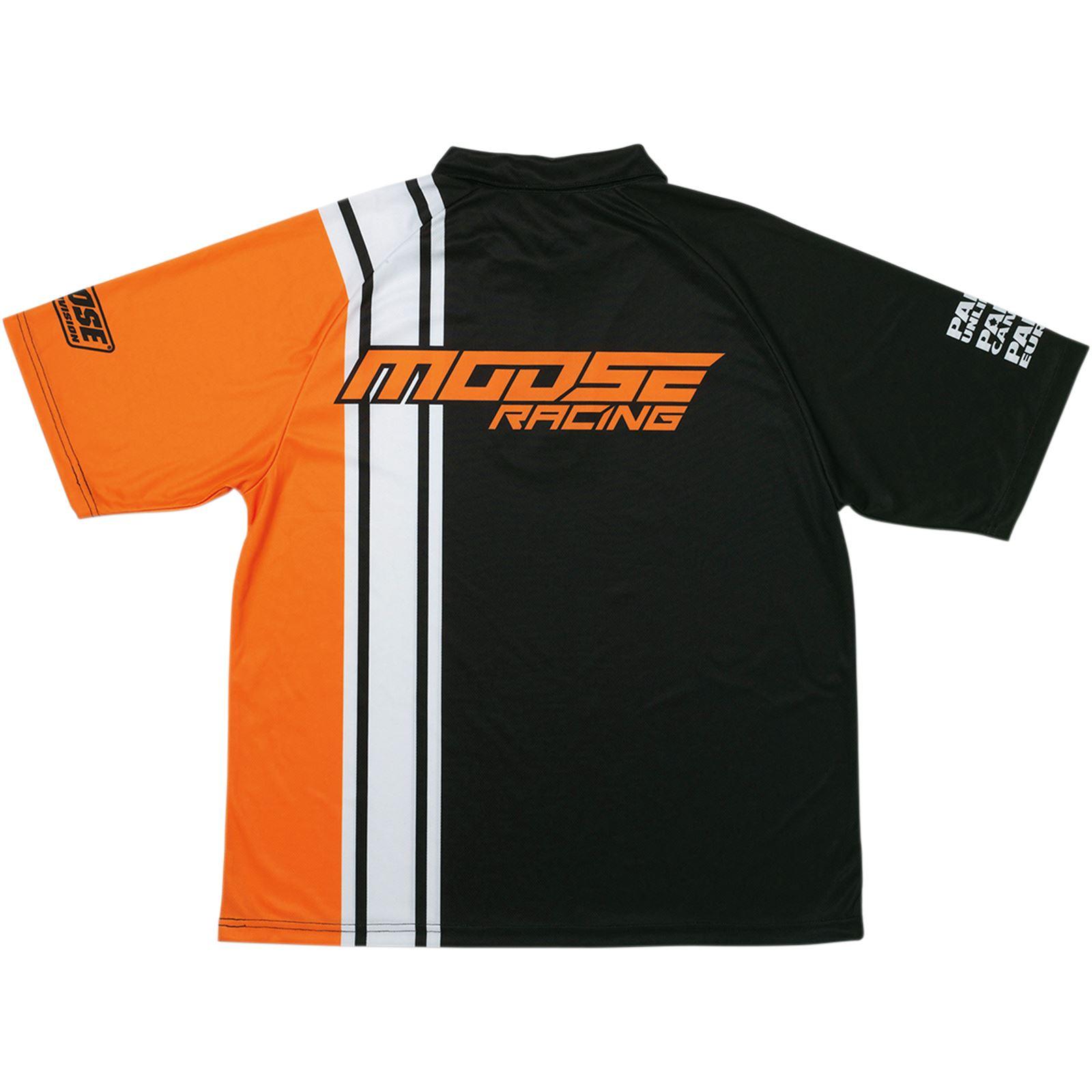 Moose Racing Pit Shirt - Black/Orange/White -  XL