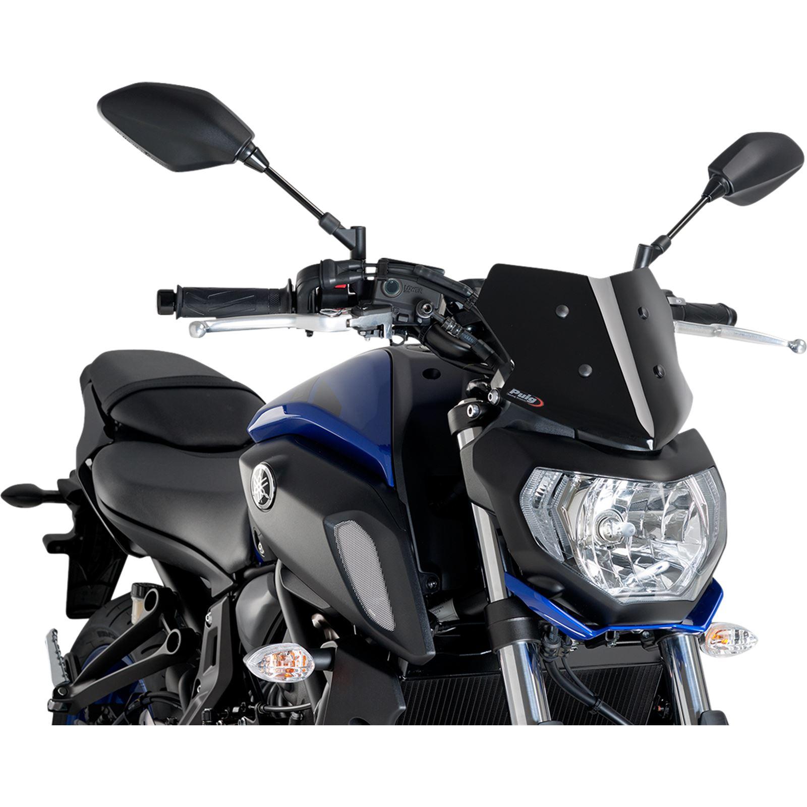 Puig Naked Sport Windscreen - Black - Yamaha