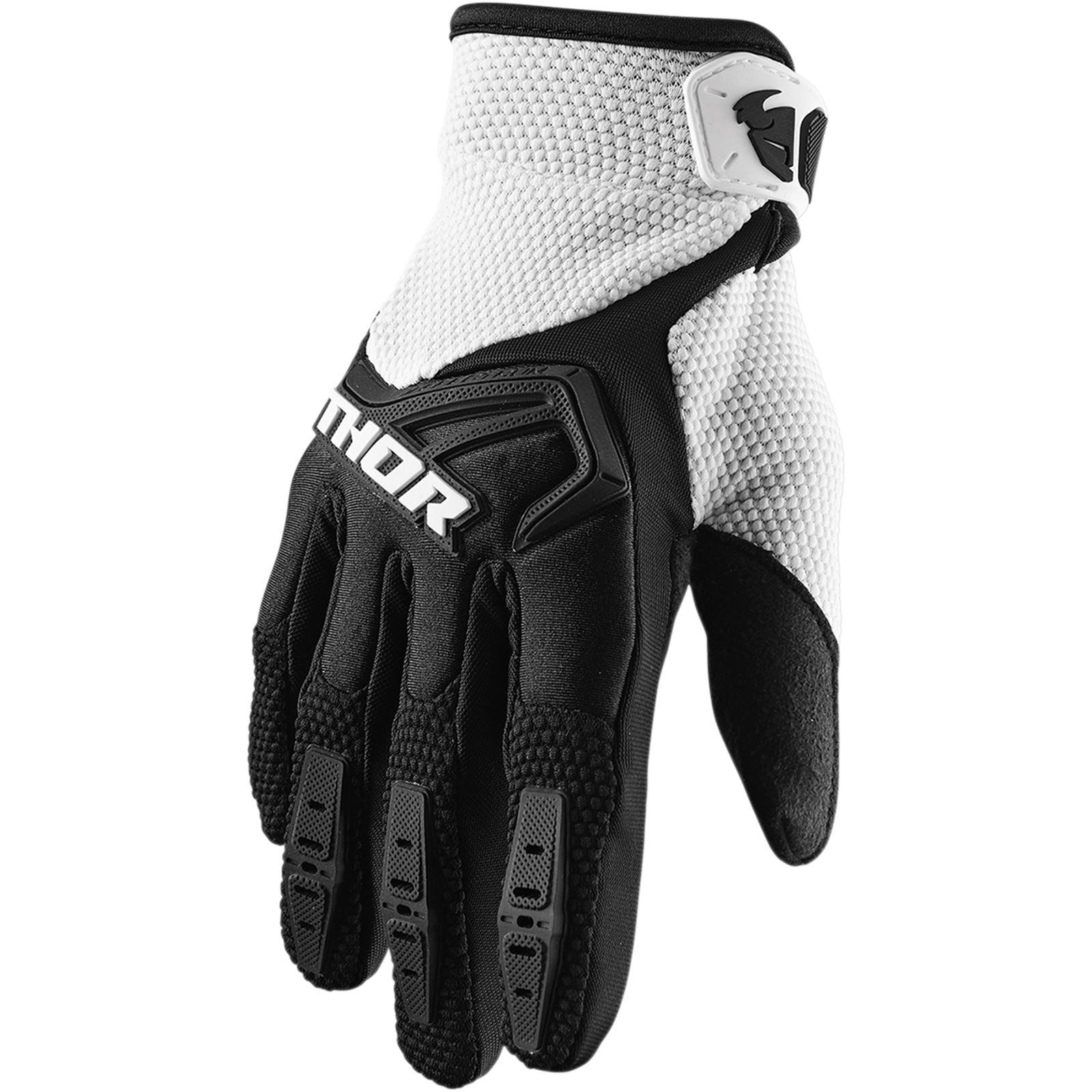 Thor Youth Spectrum Gloves Black/White - Large
