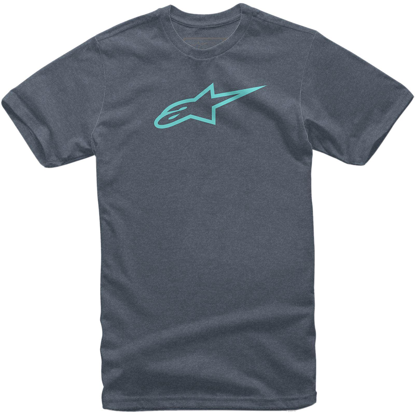 Alpinestars Ageless II T-Shirt - Navy/Turquoise - Medium