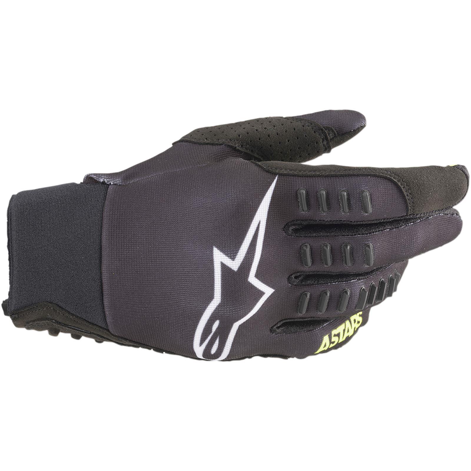 Alpinestars SMX-E Gloves - Black/Yellow - 2X-Large