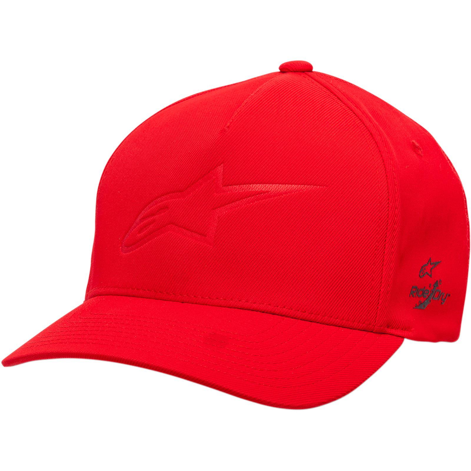 Alpinestars Ageless Deboss Tech Hat - Red- Small/Medium