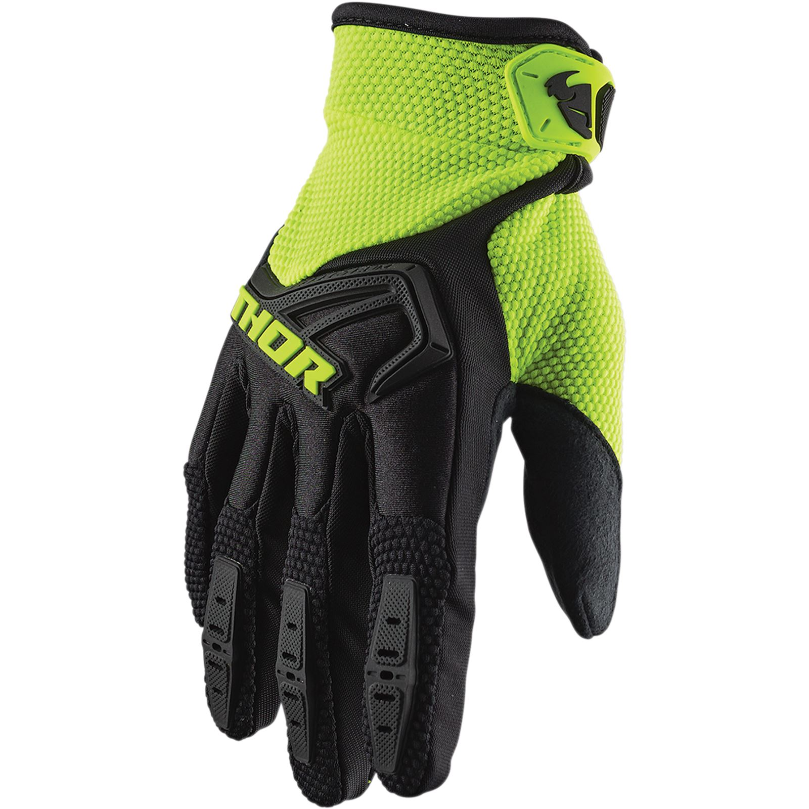 Thor Youth Spectrum Gloves Black/Acid - Small