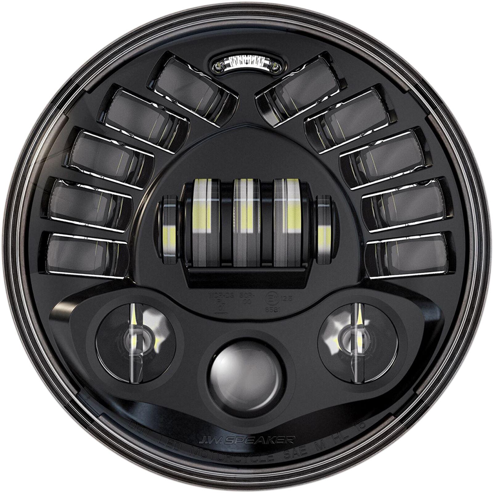 """Custom Dynamics Adaptive Headlamp 7"""" - Harley Davidson - Black"""
