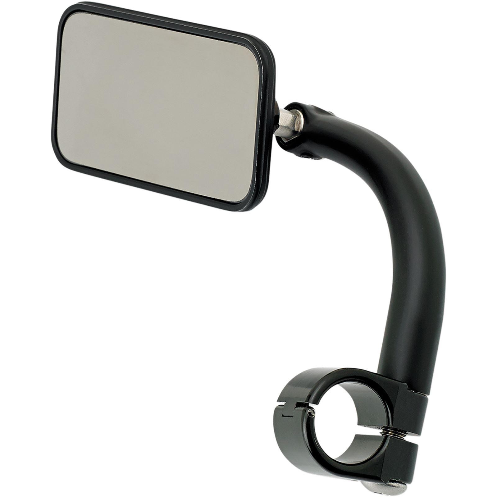 "Biltwell Inc. Rectangular Clamp-On Mirror - 7/8"" - Black"