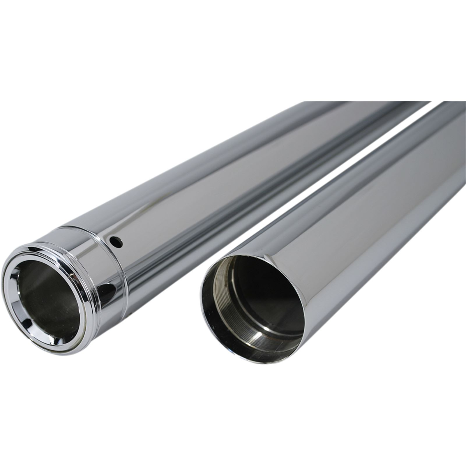 "Custom Cycle Show Chrome Fork Tubes - 35 mm - 25.50"""