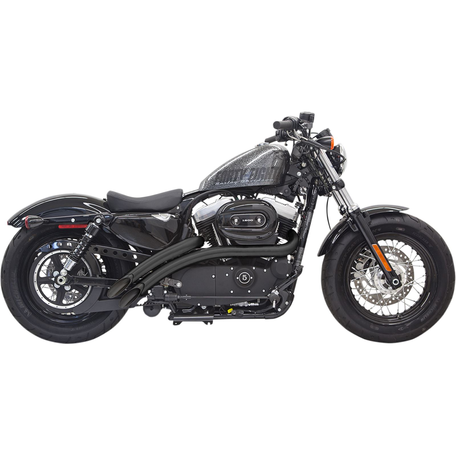 Bassani Manufacturing Radial Sweeper Exhaust - Black - '14-'19 XL