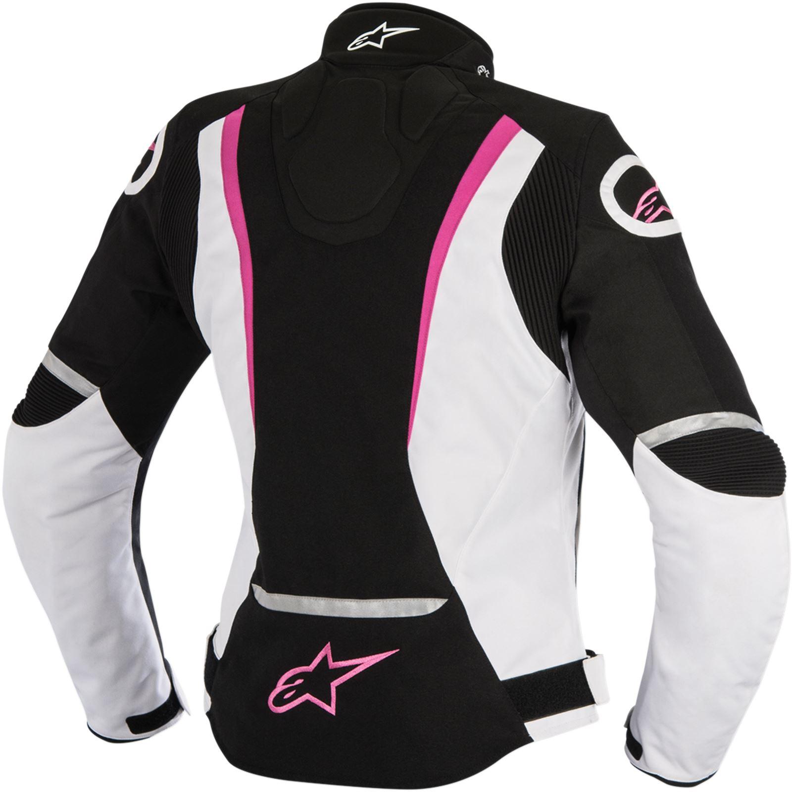 Alpinestars Stella Jaws Leather Jacket - Black/White/Pink - Small