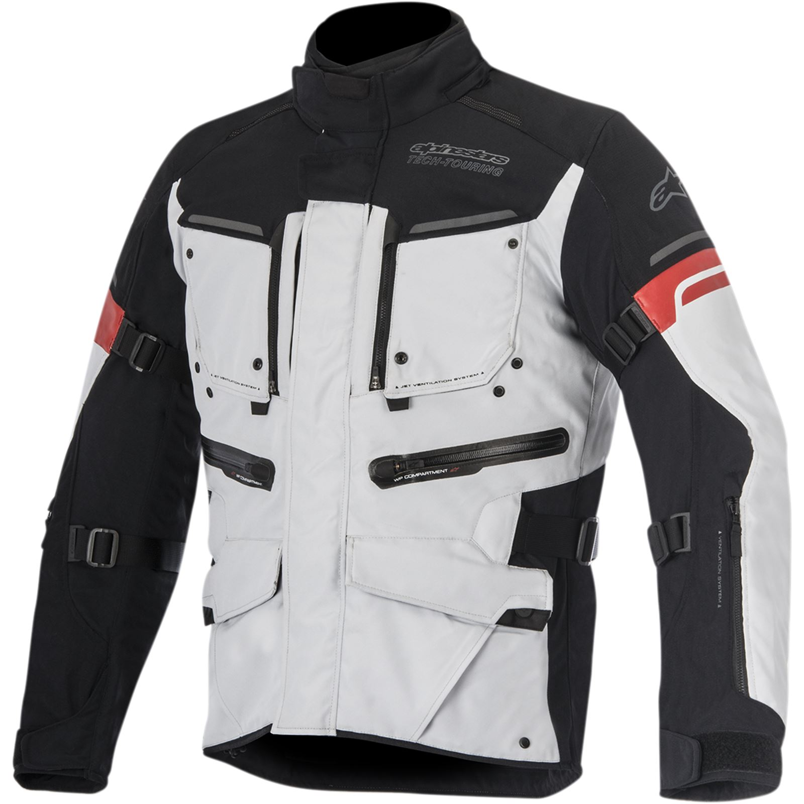 Alpinestars Valparaiso 2 Drystar® Jacket Grey/Black/Red X-Large