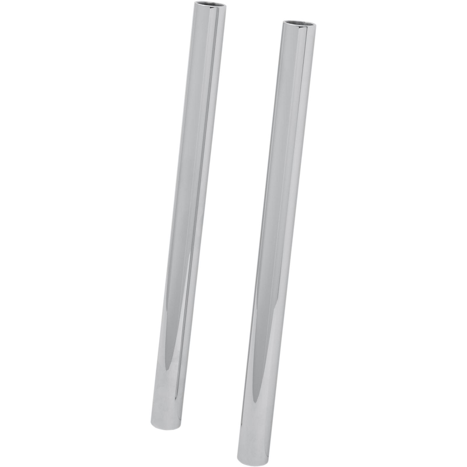 "Custom Cycle Show Chrome Fork Tubes - 41 mm - 22.50"""