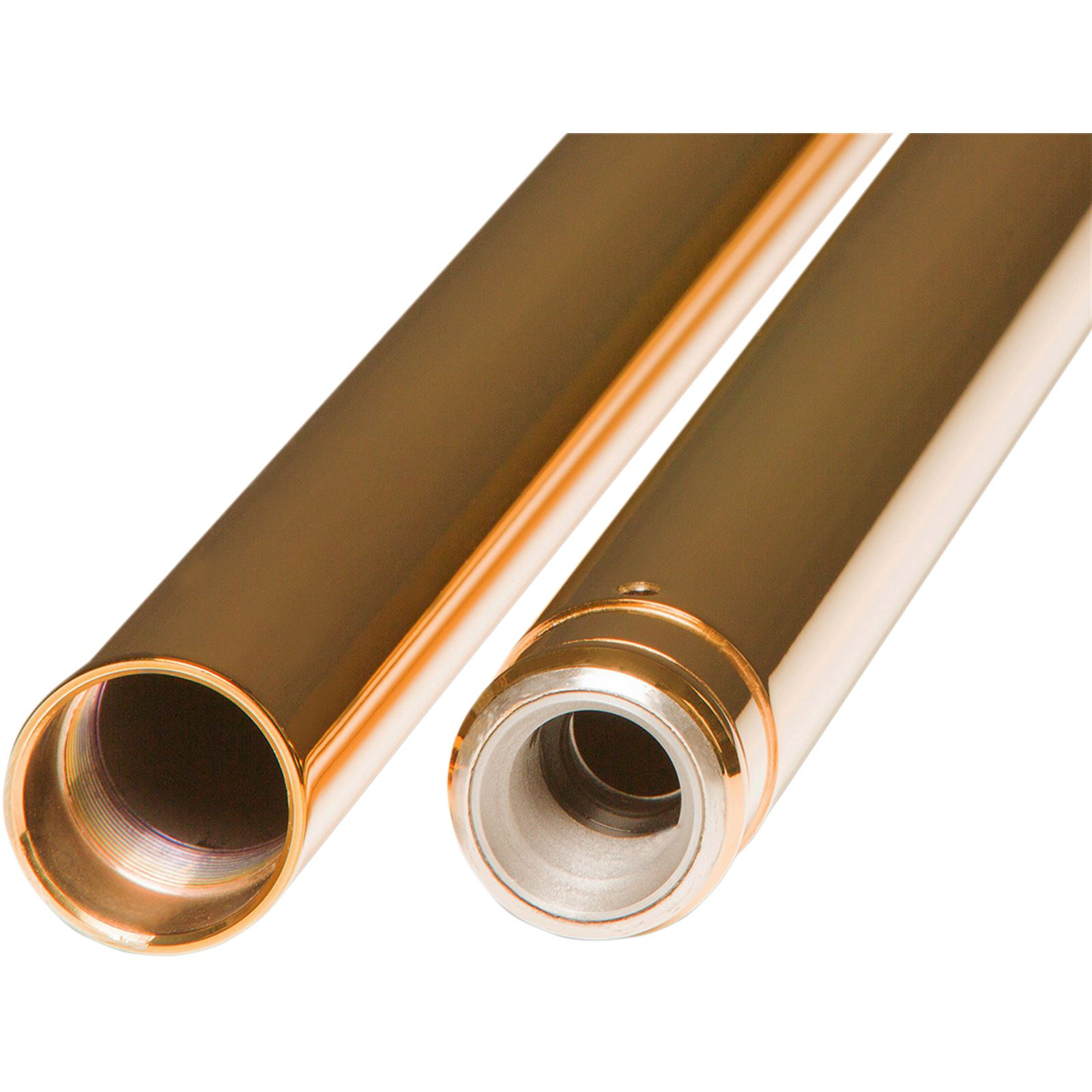 Custom Cycle Fork Tubes - Gold - 39 mm - 24.25'