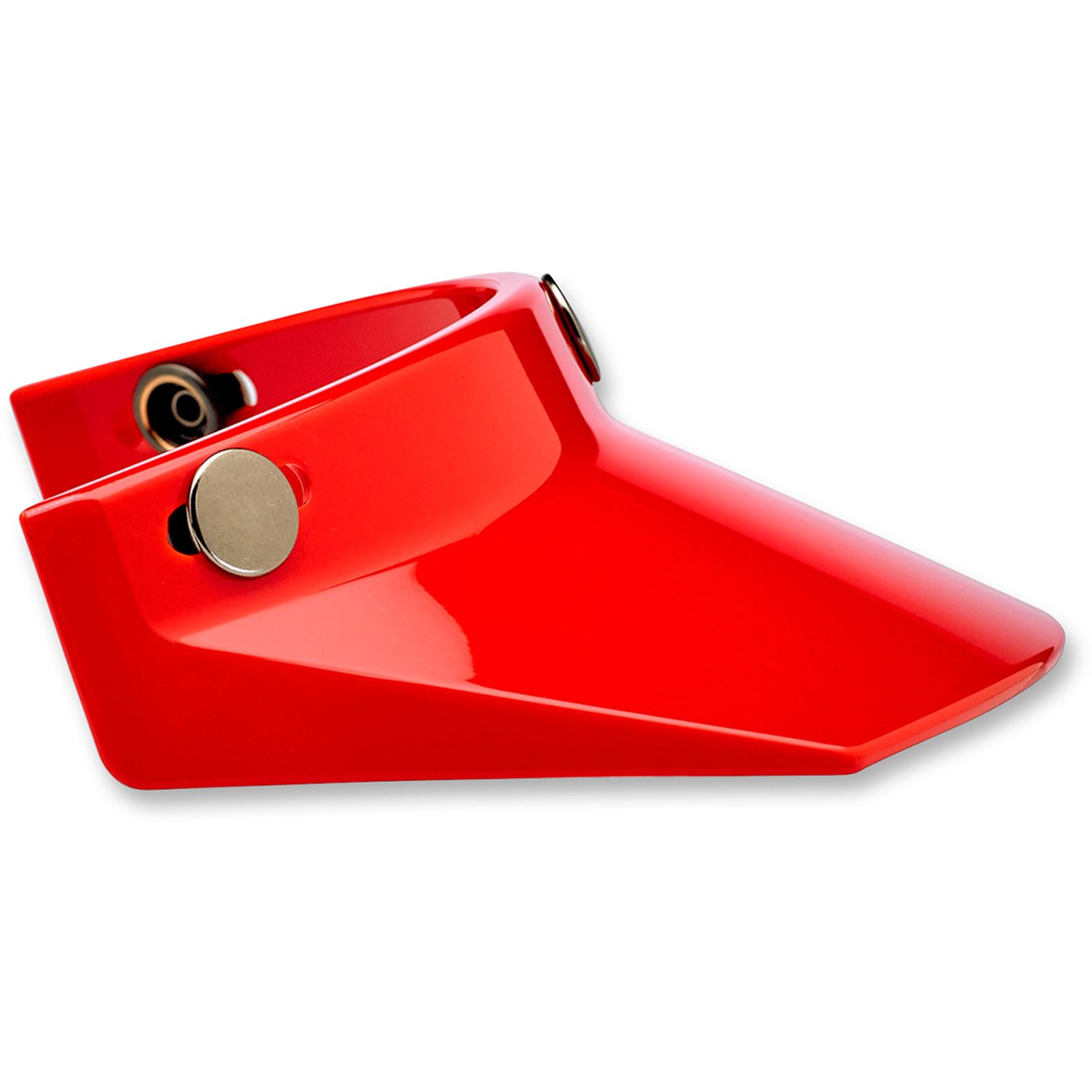 Biltwell Inc. Moto 3-Snap Visor - Red