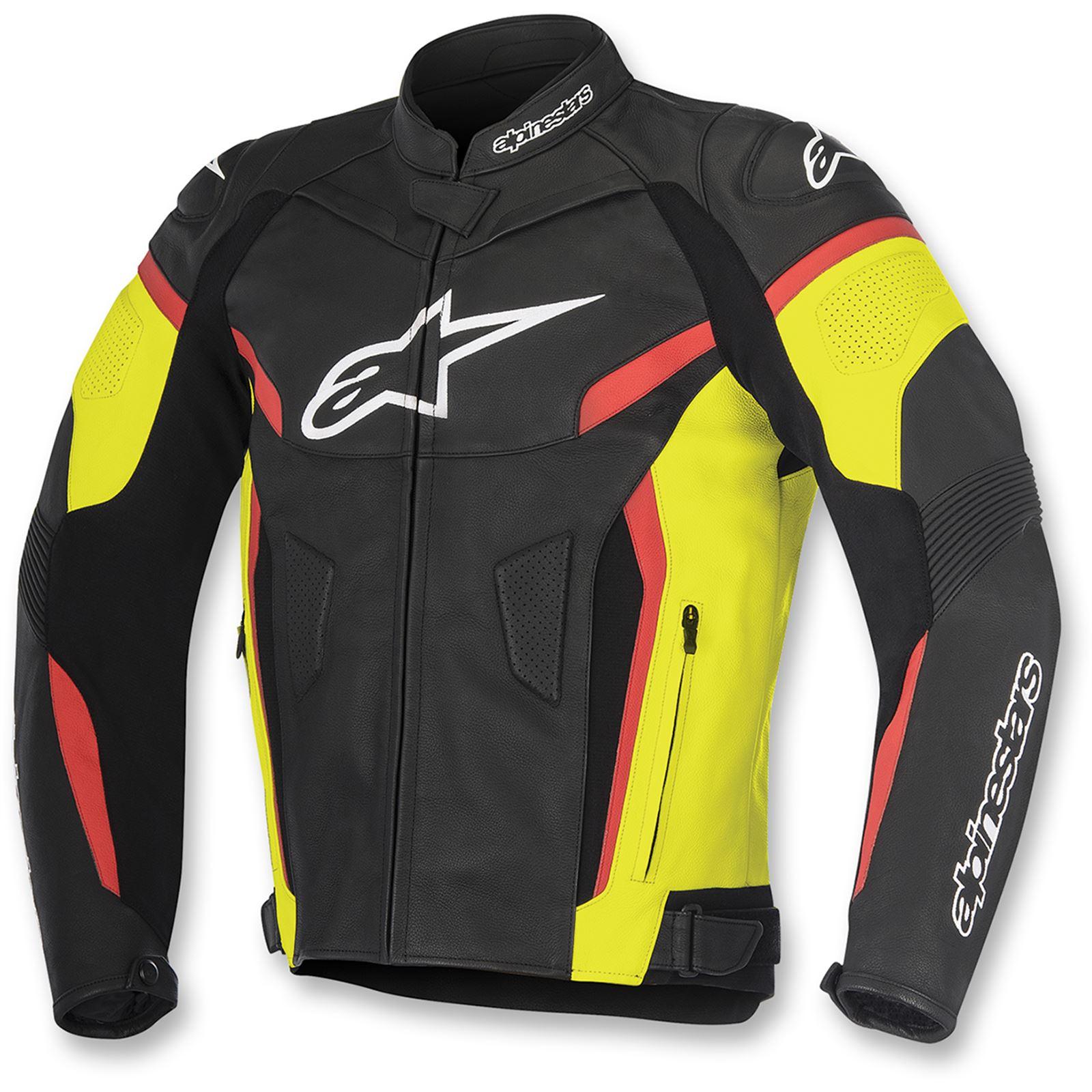 Alpinestars GP Plus R v2 Leather Jacket - Black/Yellow/Red - X-Large/2X-Large