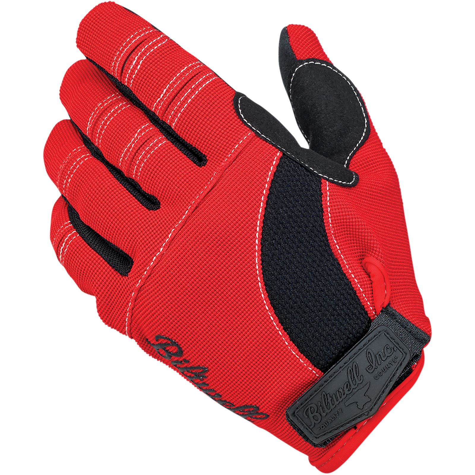 Biltwell Inc. Moto Gloves - Red/Black/White - Small