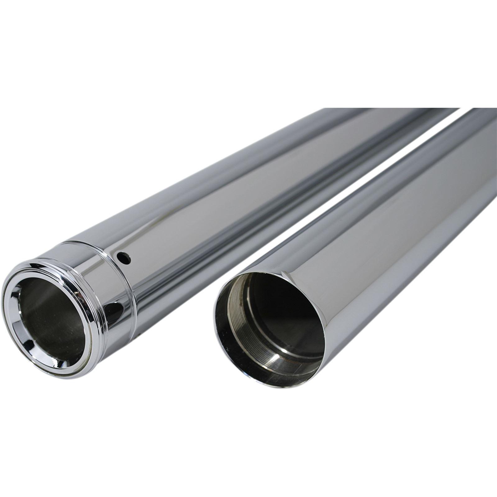 "Custom Cycle Show Chrome Fork Tubes - 41 mm - 26.25"""