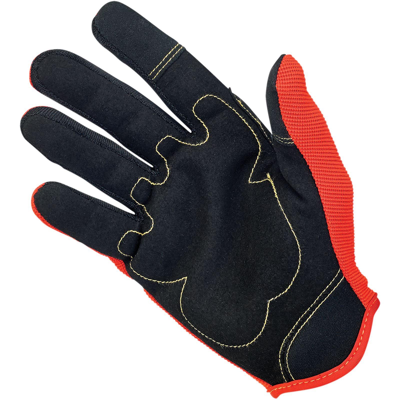Biltwell Inc. Moto Gloves - Brown/Orange/Yellow - 2X-Large